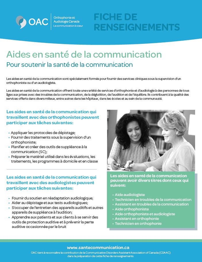 Aides en santé de la communication